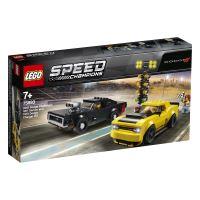 LEGO® Speed Champions 75893 Dodge Challenger SRT Demon 2018 et Dodge Charger R/T 1970