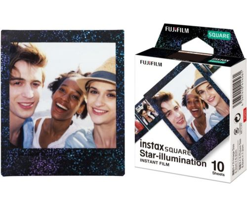 Pack de 10 films Fujifilm Instax Square Mono Star illumination