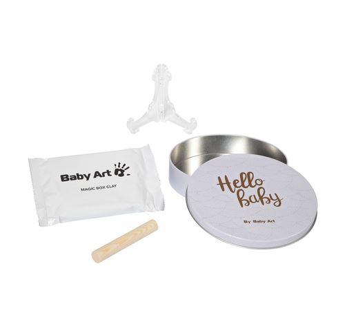 Kit d'empreinte Baby Art Magic Box Shiny Blanc