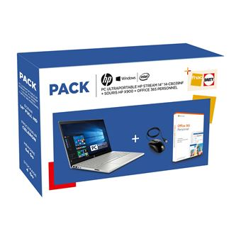 Pack PC Ultra-Portable HP Stream 14-cb039nf 14