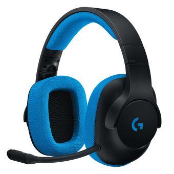 Casque Gaming Filaire Logitech G233 Prodigy Noir et Bleu