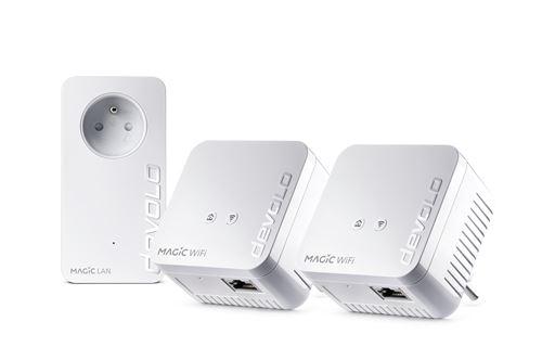 Kit Multiroom 3 adaptateurs CPL Devolo Magic 1 Wifi mini Blanc