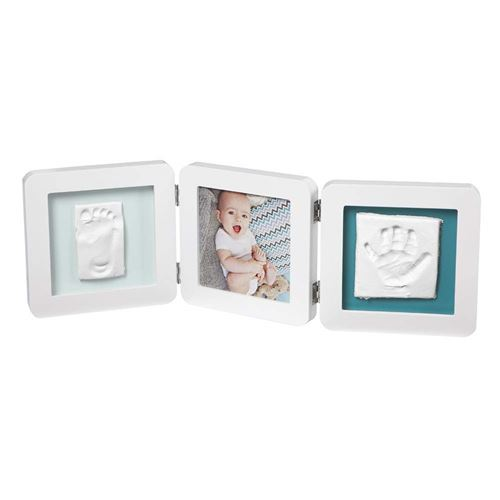 Cadre photo Baby Art My Baby Touch Double Print Blanc