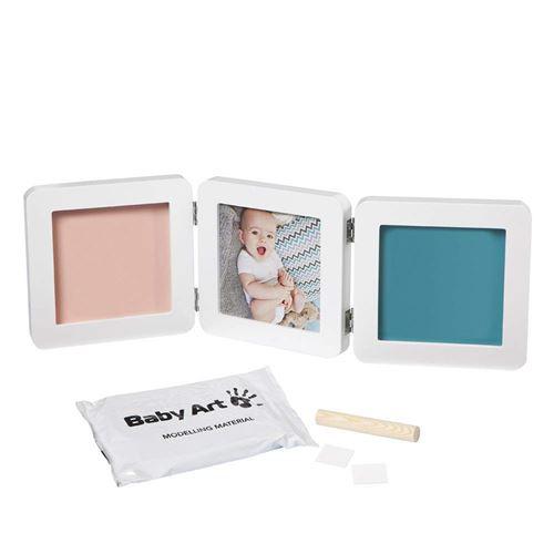 Baby Art Kit de Moulage et d/'Empreintes Modern Double Print Frame Pastel