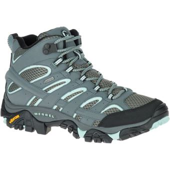 ff24549b750 Chaussures de randonnée Femme Merrell Moab 2 Gore Tex® Vertes et Grises  Taille 38
