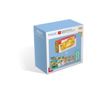 Pack Fnac Console Nintendo Switch Lite Jaune + Animal Crossing New Horizons + Pochette Nintendo Switch Animal Crossing + Amiibo Marie + Paquet cartes Animal Crossing Série 2/3/4