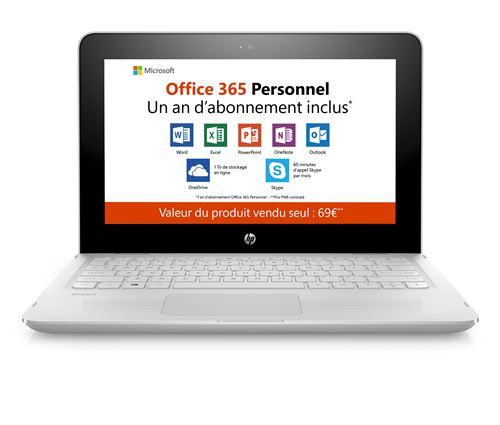 PC Tablette HP Stream x360 11-aa007nf 2-en-1 11.6 Tactile + Office 365 personnel 1 an dabonnement inclus