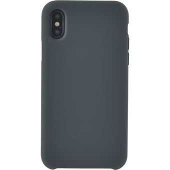 Coque Bigben Soft Touch Grise pour iPhone X