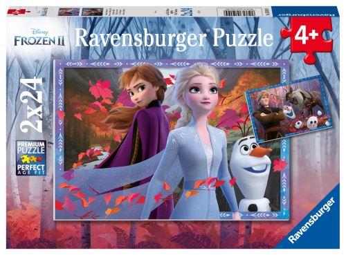 Puzzles 2 x 24 pièces Ravensburger Vers des contrées glacées Disney Frozen La Reine des Neiges 2