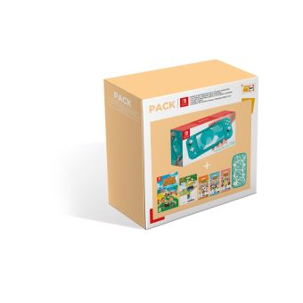 Pack Fnac Console Nintendo Switch Lite Turquoise + Animal Crossing New Horizons + Pochette Nintendo Switch Animal Crossing + Amiibo Amiral + Paquet cartes Animal Crossing Série 2/3/4