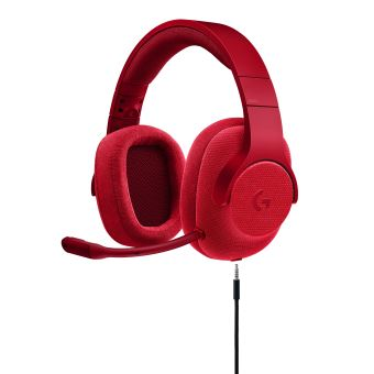 LOGITECH G433 GAMING HEADSET - RED