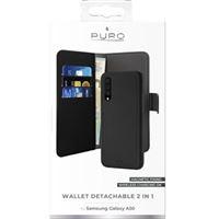 Etui folio détachable Puro avec coque magnétique Noir pour Samsung Galaxy A50