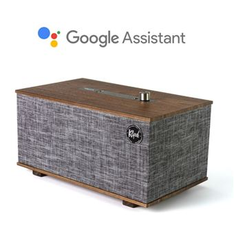 Enceinte Bluetooth Klipsch The Three Gris avec Assistant Google intégré
