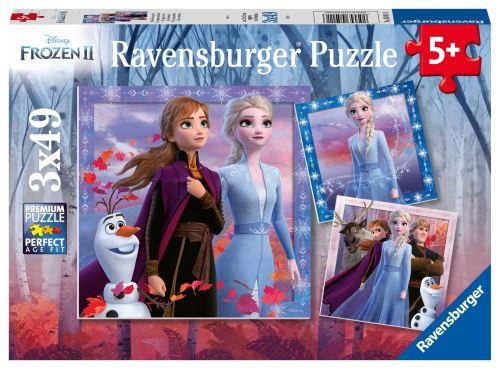 Puzzles 3 x 49 pièces Ravensburger Le voyage commence Disney Frozen La Reine des Neiges 2