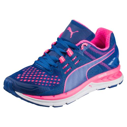Chaussures de running Femme Puma Speed 1000 S Ignite Bleu marine et Roses Taille 37.5