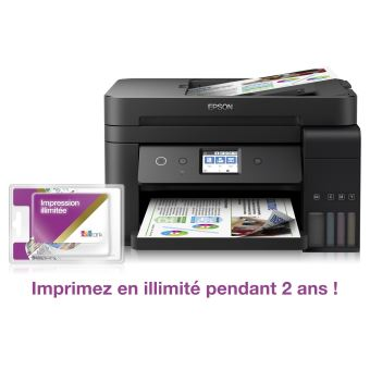 Imprimante multifonction 4-en-1 Epson EcoTank ET-4750 Unlimited Noir