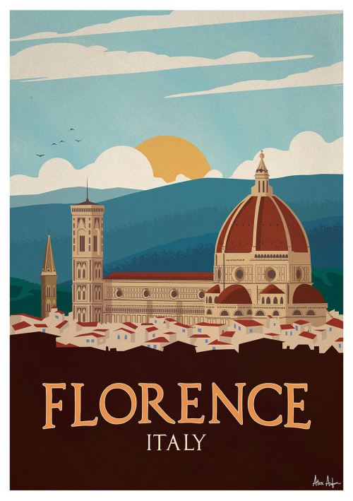 Affiche Sergeant Paper Florence 50x70 cm Edition limitée signée
