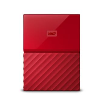 Disque Dur Externe WD My Passport 2 To Rouge