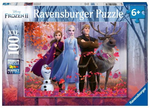 Puzzle 100 pièces XXL Ravensburger La Reine des Neiges 2 Magie Forêt Disney