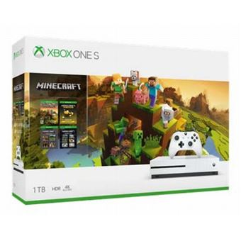 Pack Console Microsoft Xbox One S 1 To + Minecraft Master Collection