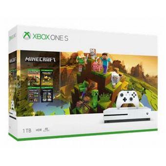 Microsoft xbox one s 1tb white minecraft holiday bundle