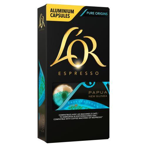 Set de 10 Capsules café Maison du café L'Or Espresso Papouasie
