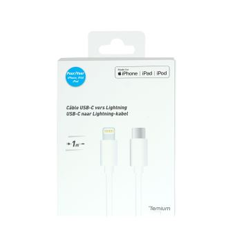 TEMIUM CABLE USB-C -  LIGHT 1M WHITE