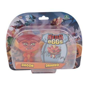 Figurines Hero egg Blister 2 Hero eggs Drako et Dagon 2