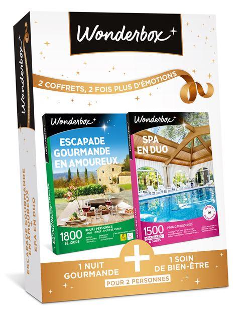 Bundle Wonderbox Escapade gourmande en amoureux Spa en duo