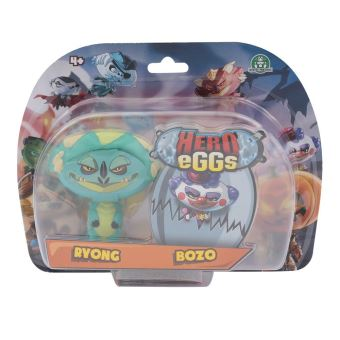 Figurines Hero egg Blister 2 Hero eggs Bozo et Ryong 2