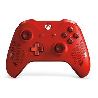 Manette Xbox Microsoft Sans Fil Edition Spéciale Sport Rouge