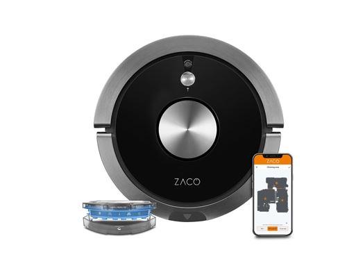 Robot aspirateur laveur connecté Zaco A9S Pro 22 W Noir