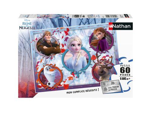 Puzzle 60 pièces Nathan Unis pour la vie Disney La Reine des Neiges 2