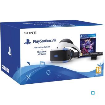 Casque de réalité virtuelle Sony Playstation VR + Caméra PlayStation V2 + Coupon pour jeu PlayStation VR Worlds
