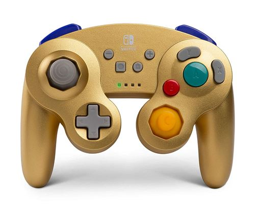 Manette Nintendo Switch Bd&A GameCube sans fil Or