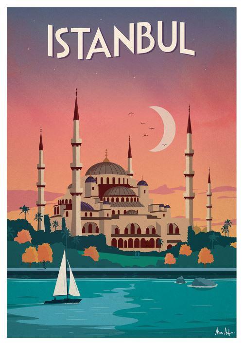Affiche Sergeant Paper Istanbul 50x70 cm Edition limitée signée