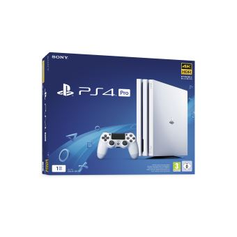 pack sony console ps4 pro 1 to blanche console de jeux. Black Bedroom Furniture Sets. Home Design Ideas