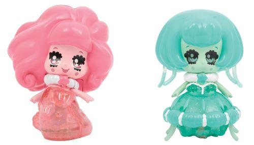 Pack de 2 figurines Glimmies Aquaria Octopia et Medusilla 6 cm