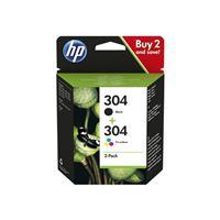 Pack de 2 cartouches jet d'encre HP 304 Noir + Couleur