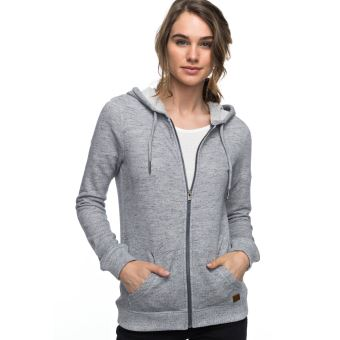 wholesale price info for price reduced Sweat à capuche zippé Femme Roxy Trippin Gris Taille L