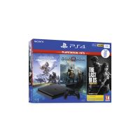Pack console PS4 Slim 1To + God of War + Horizon Zero Dawn Complete Edition + The Last of Us Remastered