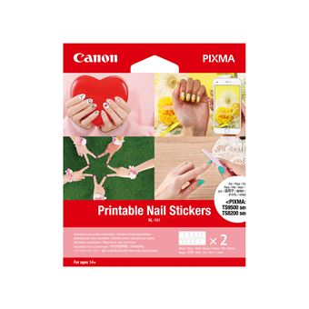 Autocollants pour ongles imprimables Canon NL-101 2 feuilles