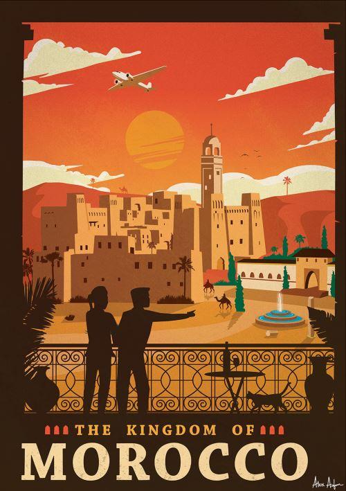 Affiche Sergeant Paper Morocco 50x70 cm Edition limitée signée