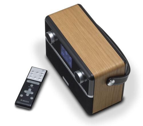 Radio Internet Bluetooth FMDABDAB+ Robers Stream 94i Noir et Bois