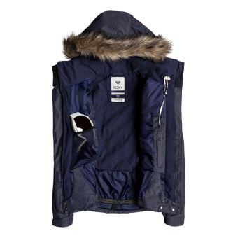 348987e70a Veste de snow à capuche Femme Roxy Jet Ski Bleu marine Taille S - Veste de  sport - Equipements sportifs | fnac