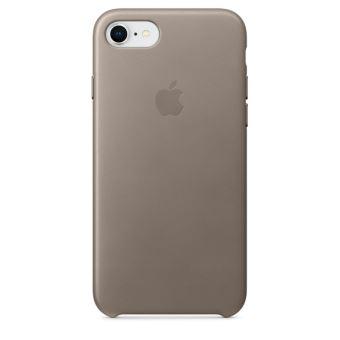 Coque en cuir Apple Taupe pour iPhone 7 et 8