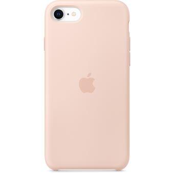 Coque en silicone Apple Rose des Sables pour iPhone SE 2020