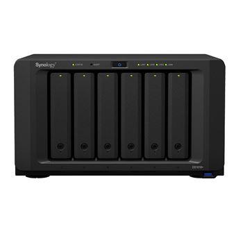 Serveur NAS Synology DiskStation DS1618 6 baies 4 Go Noir