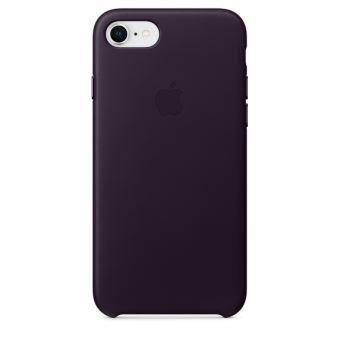 Coque en cuir Apple Aubergine pour iPhone 7 et 8