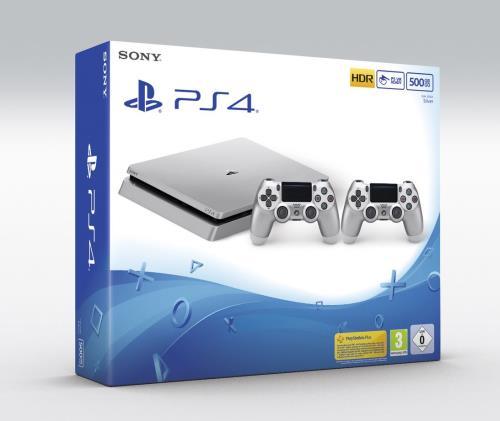 Console Sony PS4 500 Go Argent 2ème manette DualShock 4 Argent